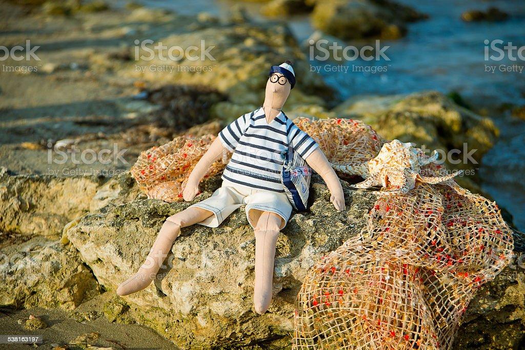 handmade doll stock photo