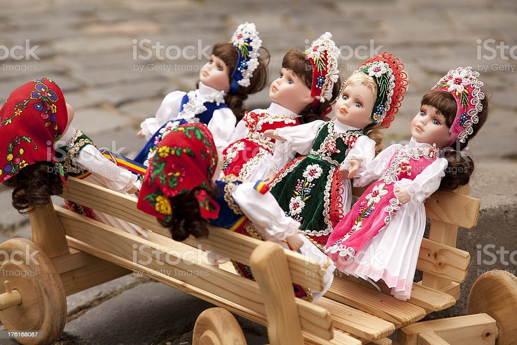 Hand-made dolls royalty-free stock photo