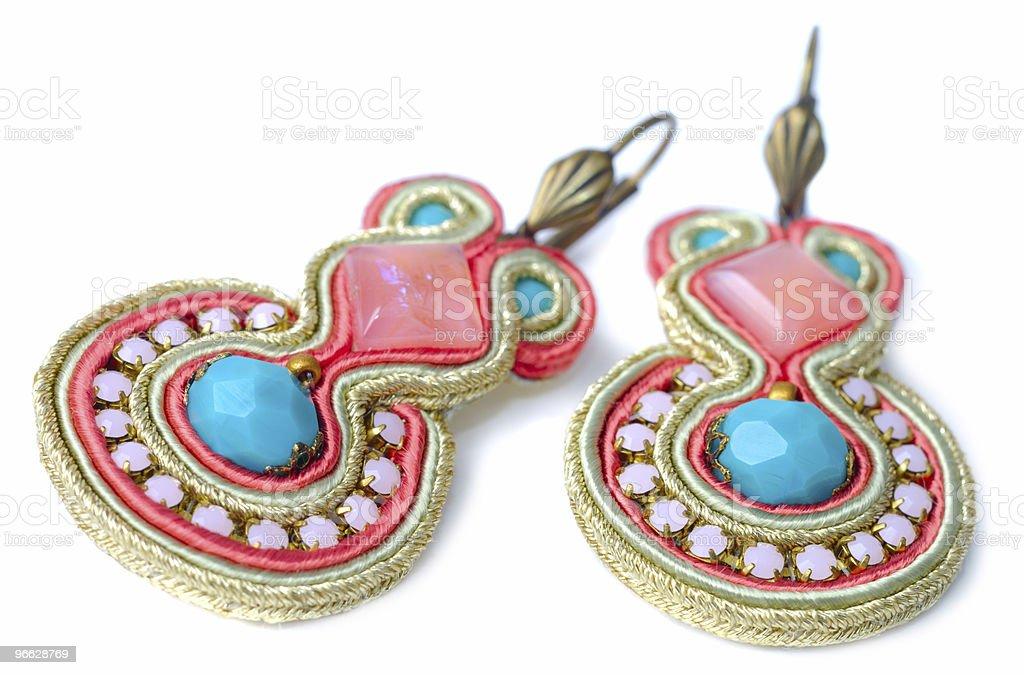 Handmade Earrings royalty-free stock photo