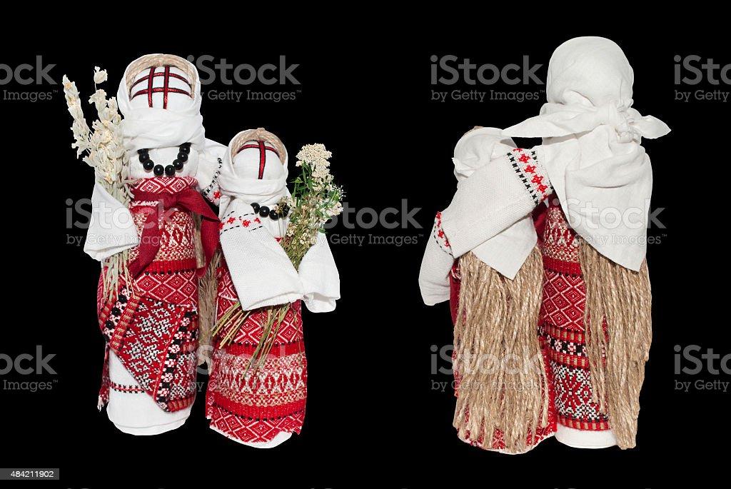 Handmade folk doll motanka stock photo