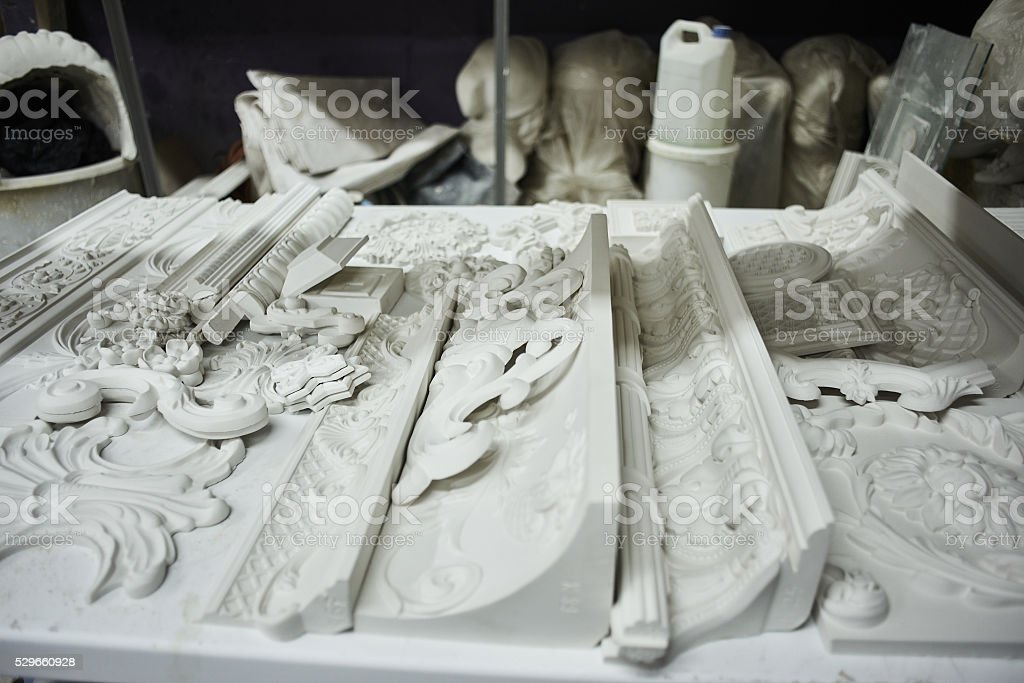Handmade from plaster stock photo