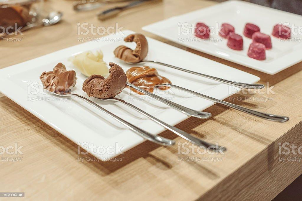 Handmade fruit bonbon stock photo