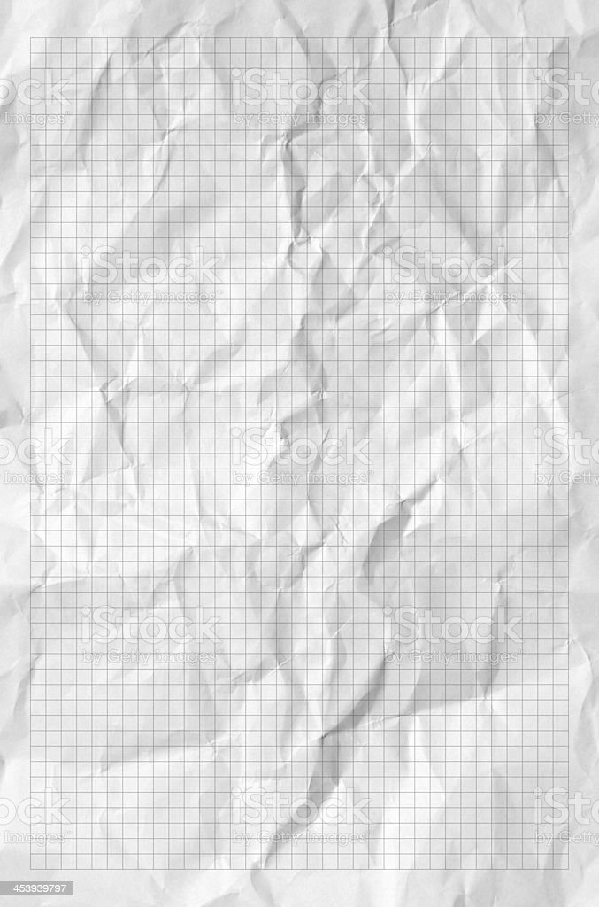 Handmade graph crumpled paper texture or background. High resolution. royalty-free stock photo
