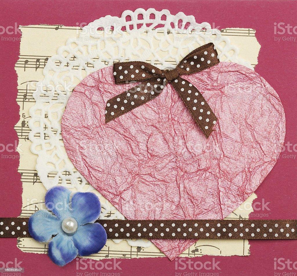 handmade greeting card royalty-free stock photo
