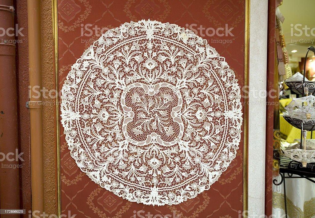 Handmade Lace in Burano Italy royalty-free stock photo