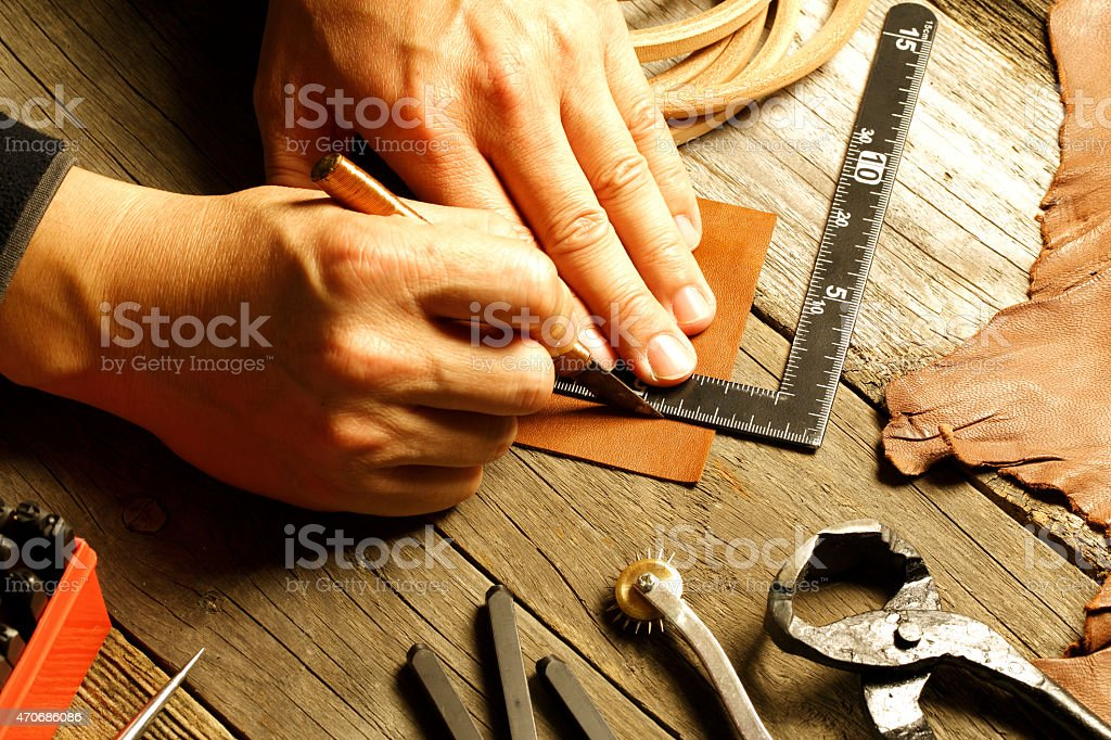 handmade leather stock photo