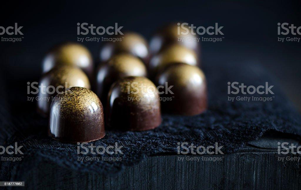 Handmade luxury chocolate stock photo