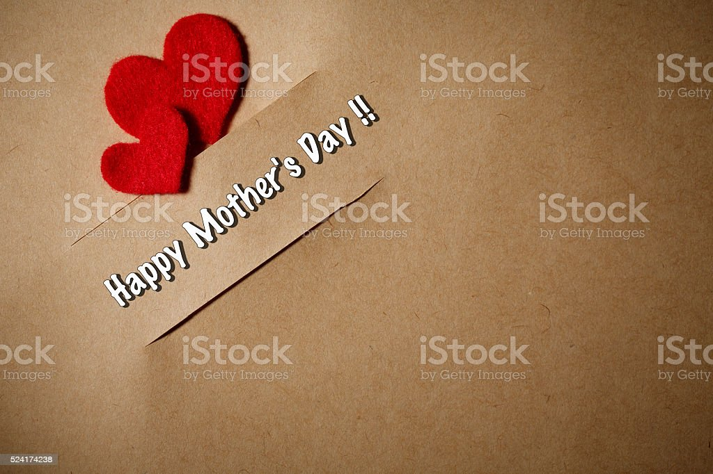 Handmade Mother's Day card stock photo