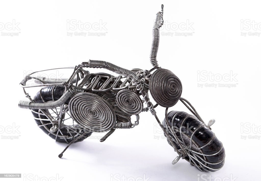Handmade motorcycle - recycle concept royalty-free stock photo