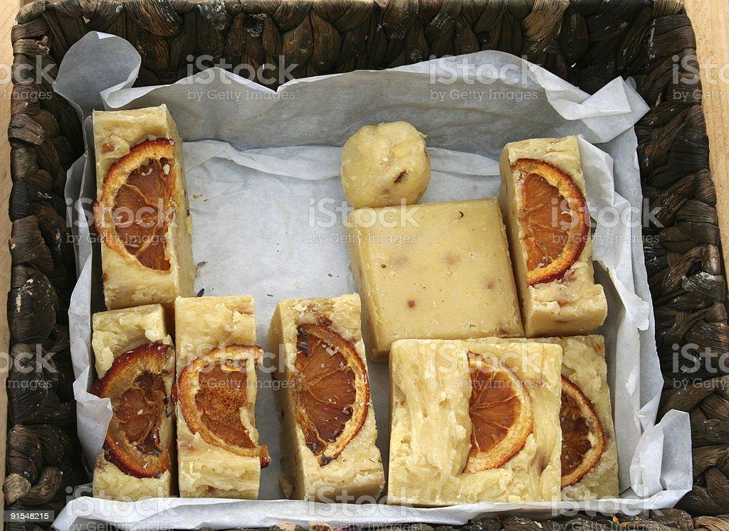 Handmade Orange Soap royalty-free stock photo
