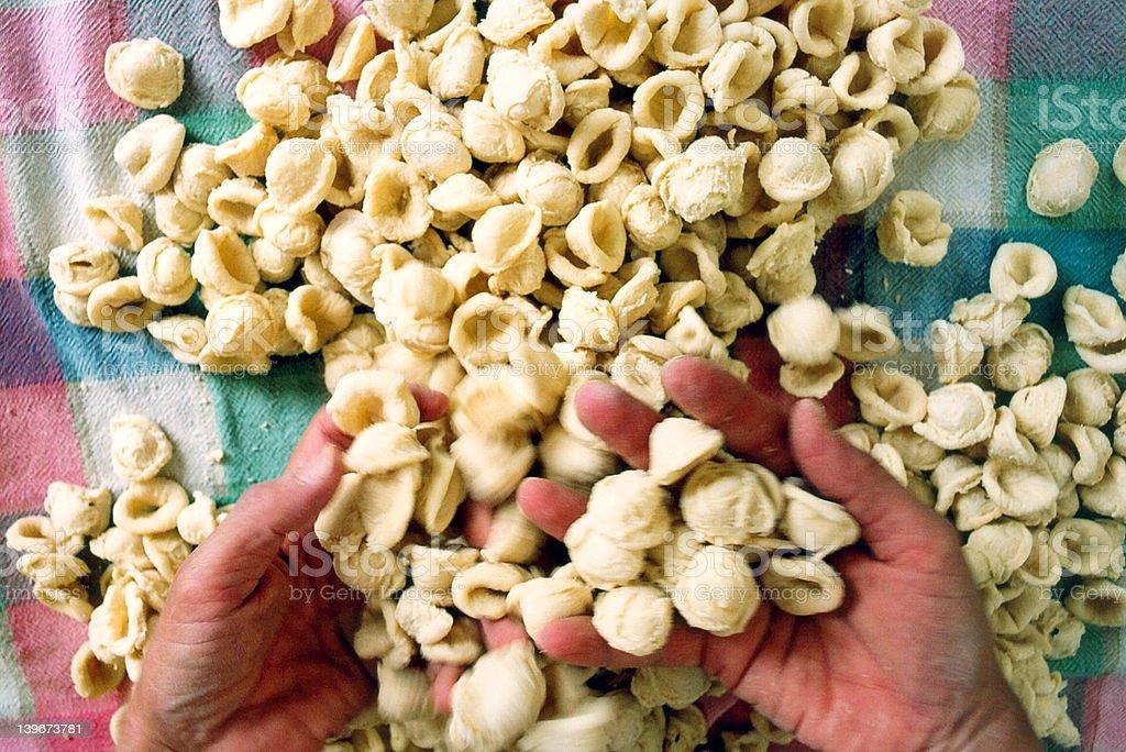 Handmade Pasta royalty-free stock photo