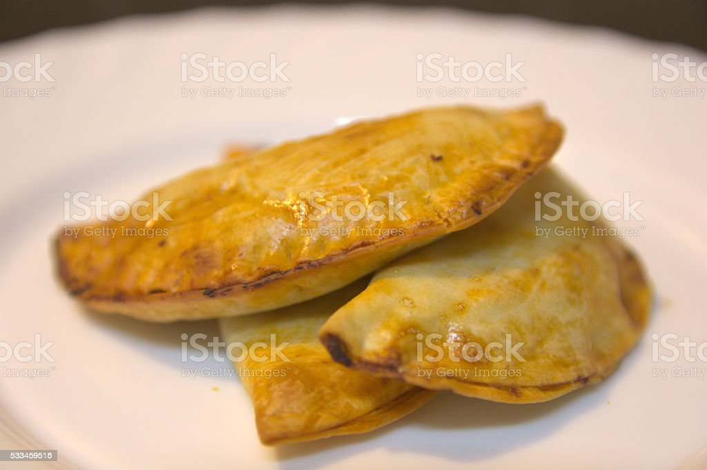 Handmade pasties stock photo