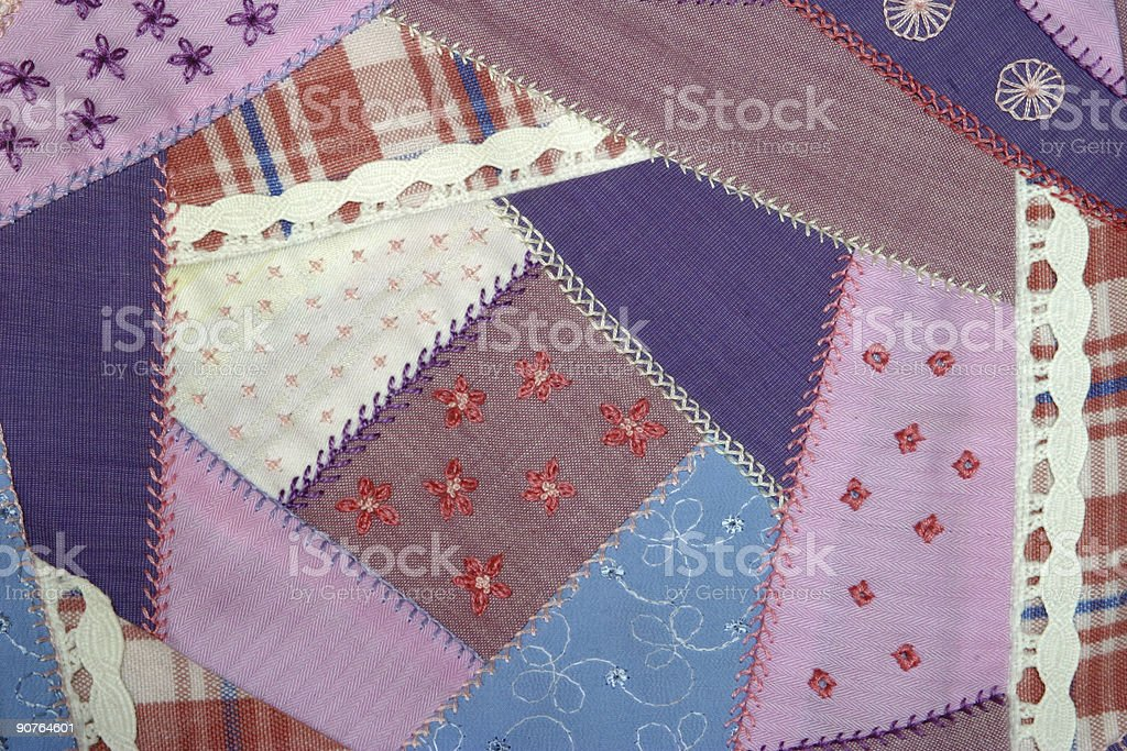 Handmade patchwork royalty-free stock photo
