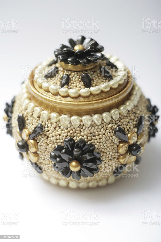 Handmade pot stock photo