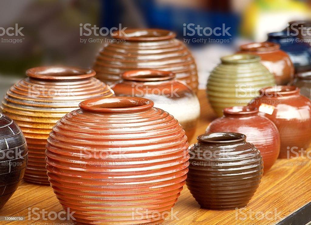 Handmade Pottery stock photo