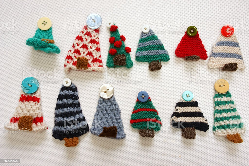 Handmade product, holiday, knitting ornament, Christmas stock photo