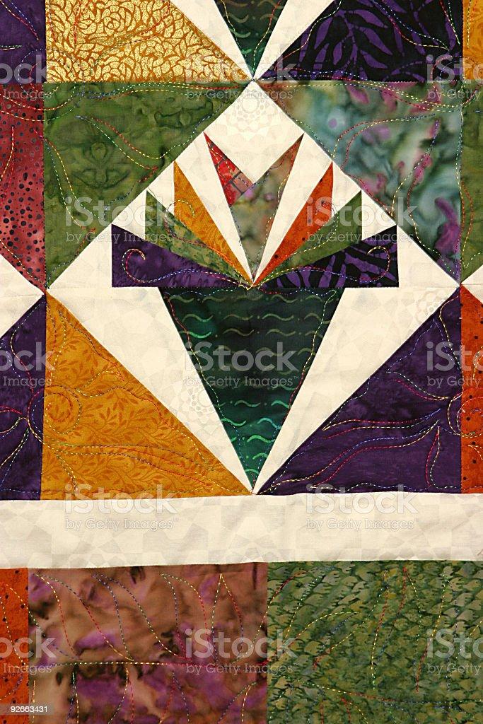 Handmade Quilt 4 royalty-free stock photo
