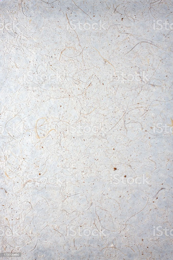 Handmade recycled paper background. stock photo