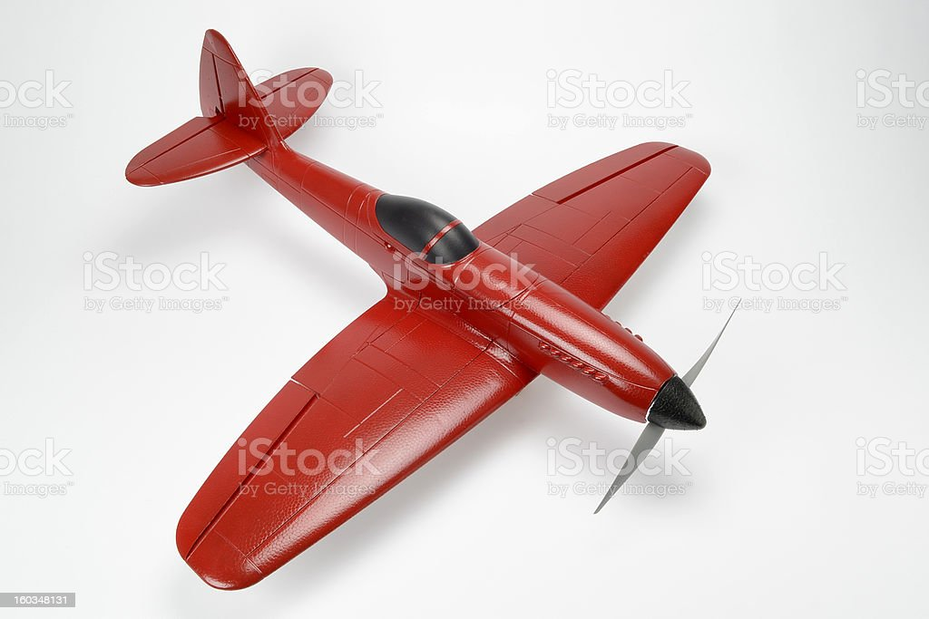 Handmade Remote Control Airplane royalty-free stock photo
