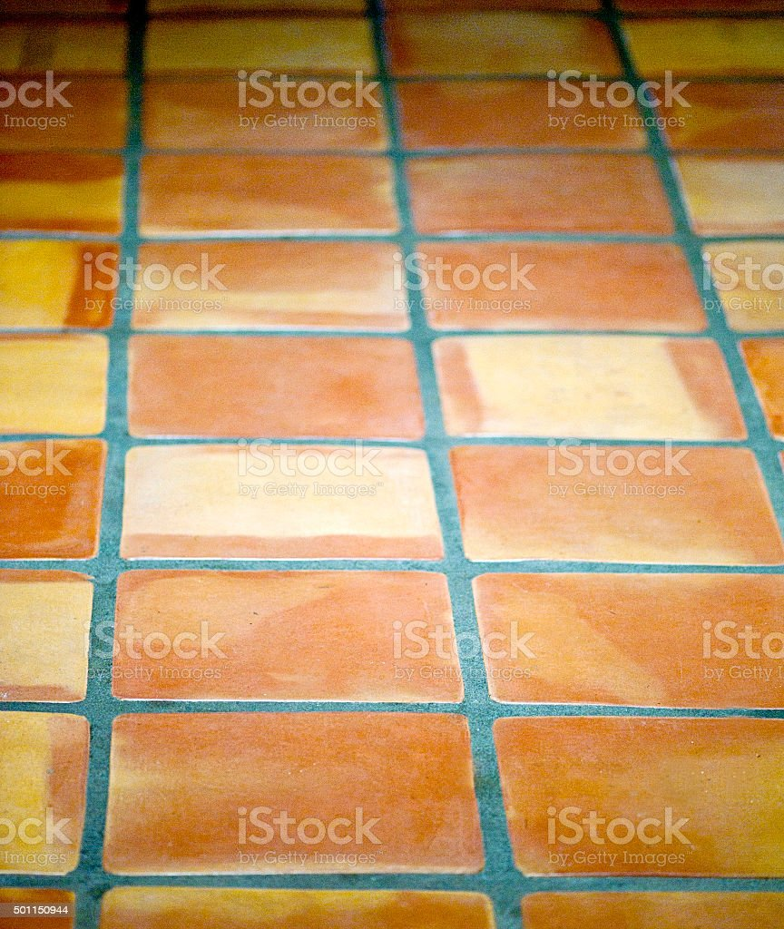 Handmade Sautillo Floor Tiles stock photo