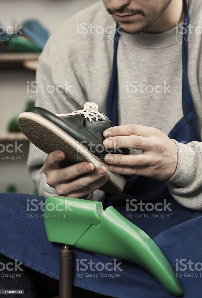 Handmade shoes royalty-free stock photo