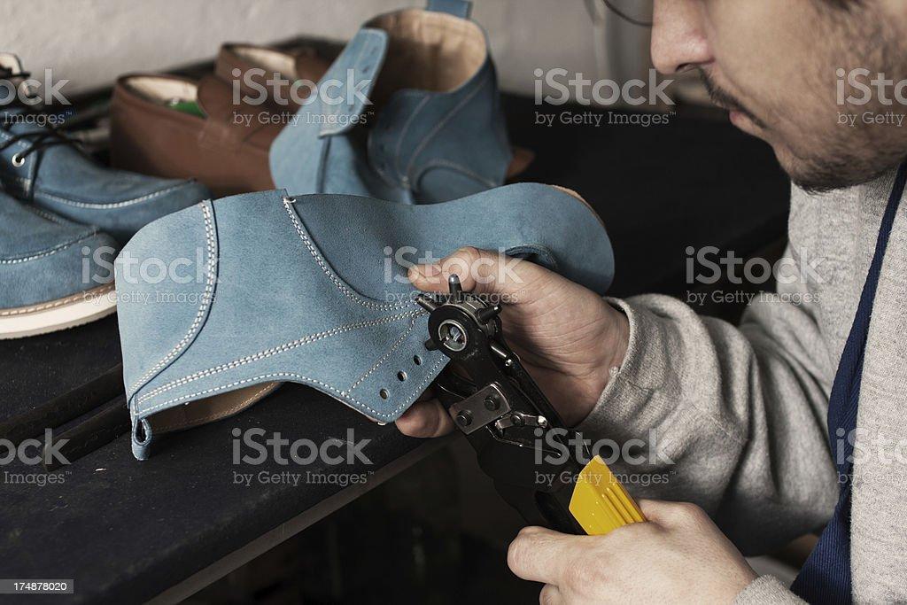 Handmade shoes royalty-free stock photo