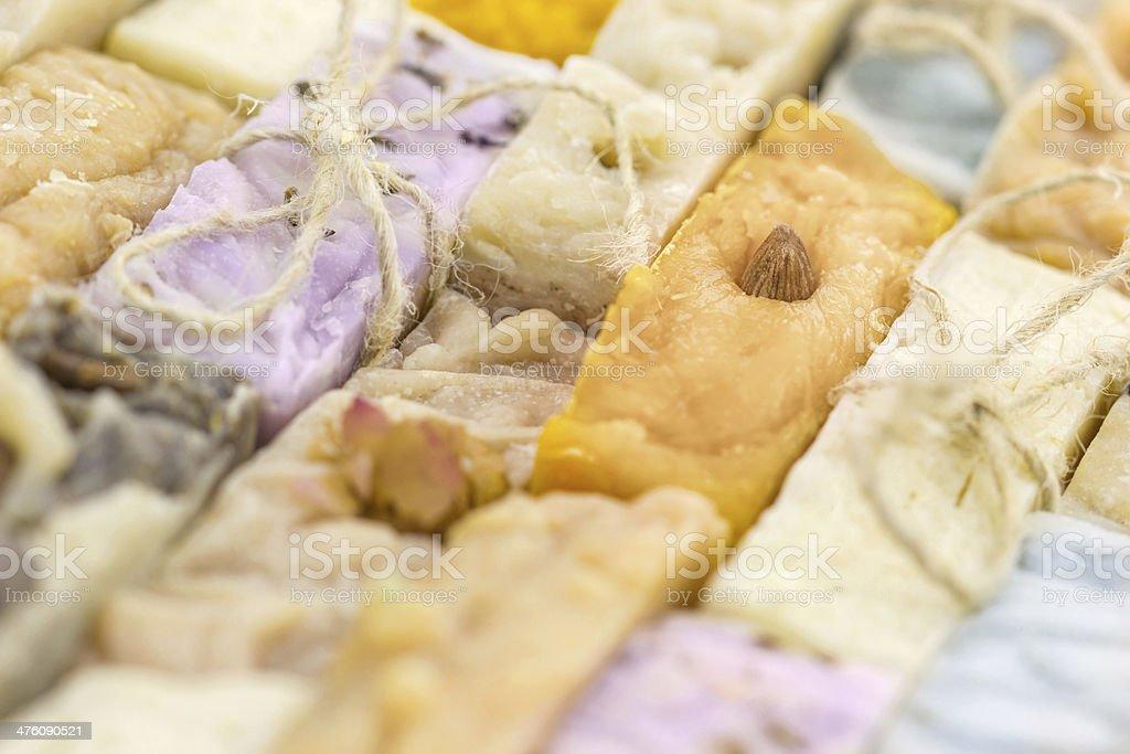 Handmade soap background royalty-free stock photo