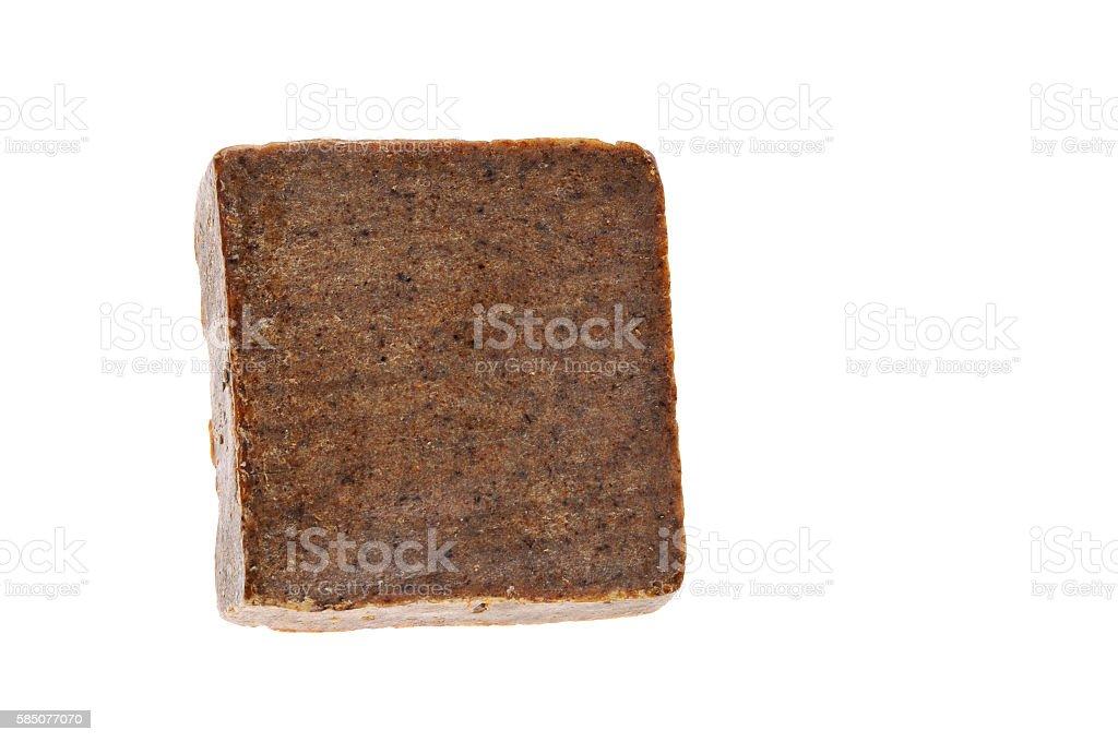 Handmade soap bar isolated over white stock photo