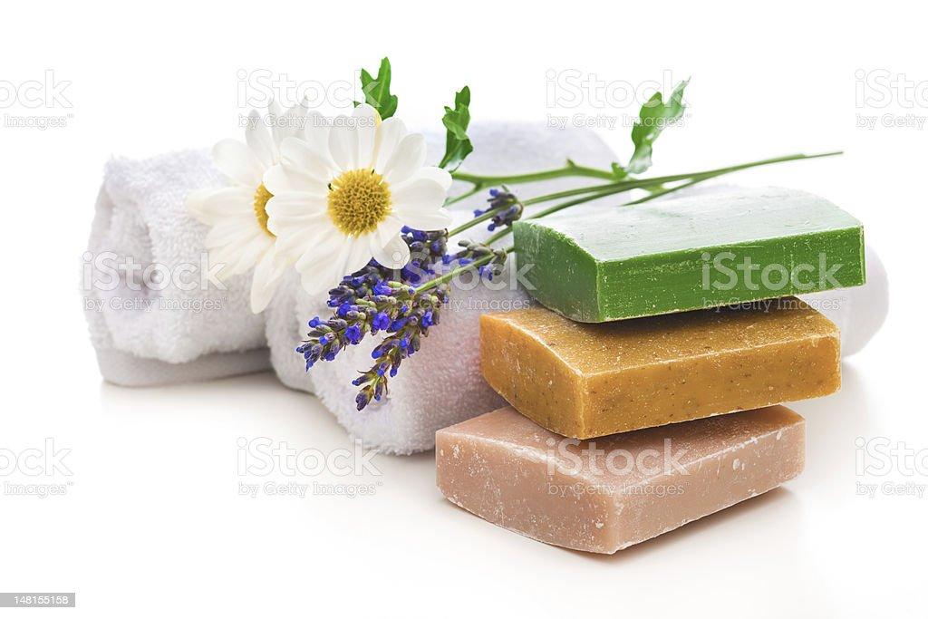 handmade soap bars royalty-free stock photo