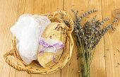 handmade soap in a basket