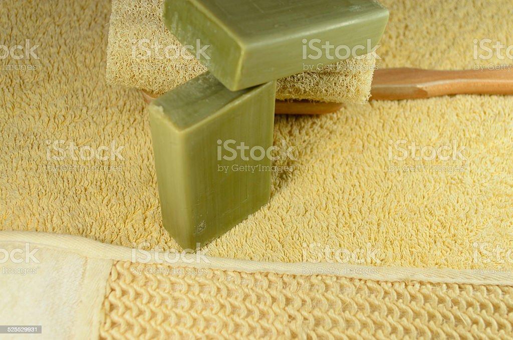 handmade soap stock photo