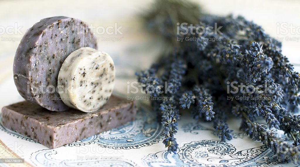 Handmade soap with naturale ingredients royalty-free stock photo