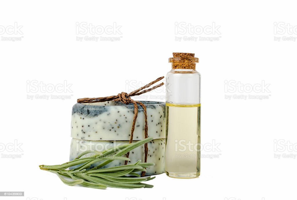Handmade soaps isolated stock photo
