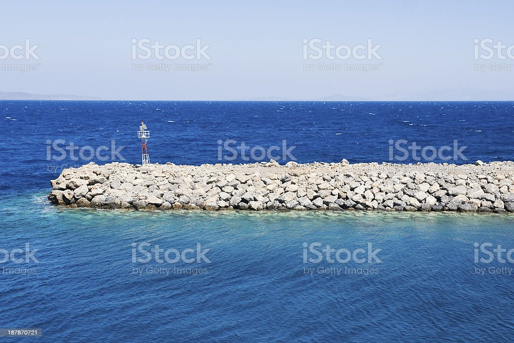 Handmade stone protection royalty-free stock photo