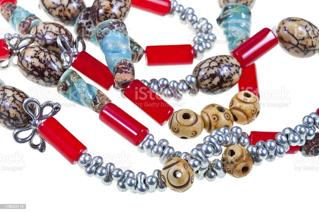 handmade strings with beads royalty-free stock photo