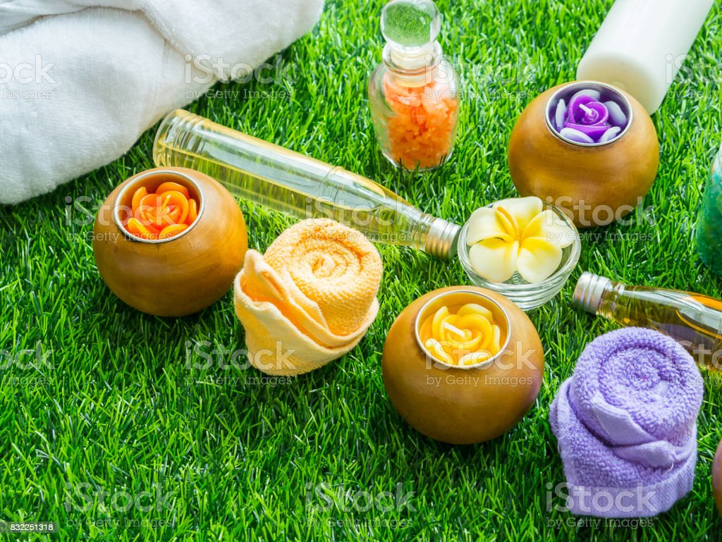 Handmade Sugar Peach Scrub With Argan Oil. Handmade Soap. Himalayan Salt. Toiletries, Spa Set stock photo