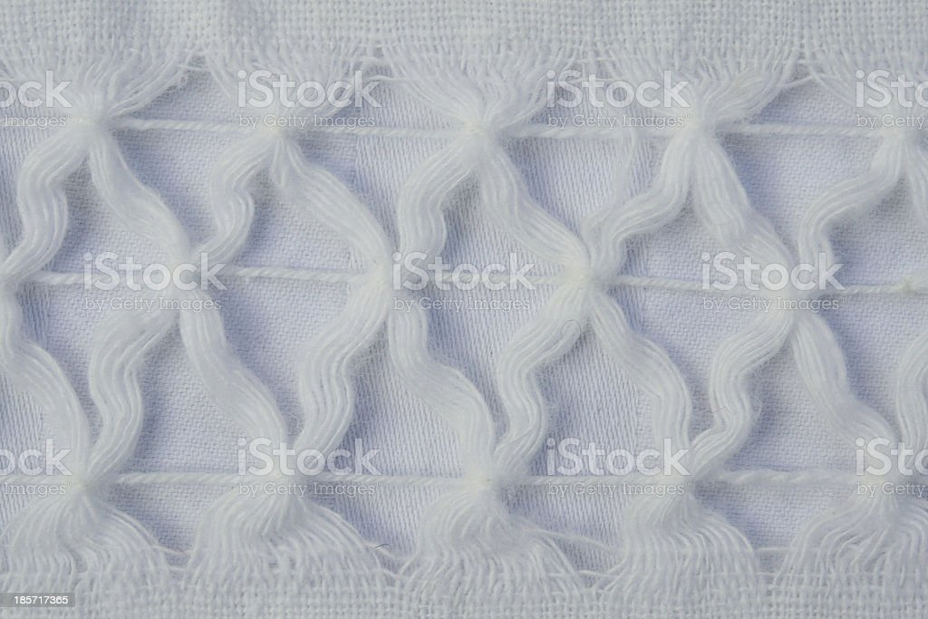 Handmade Tablecloth Detail royalty-free stock photo
