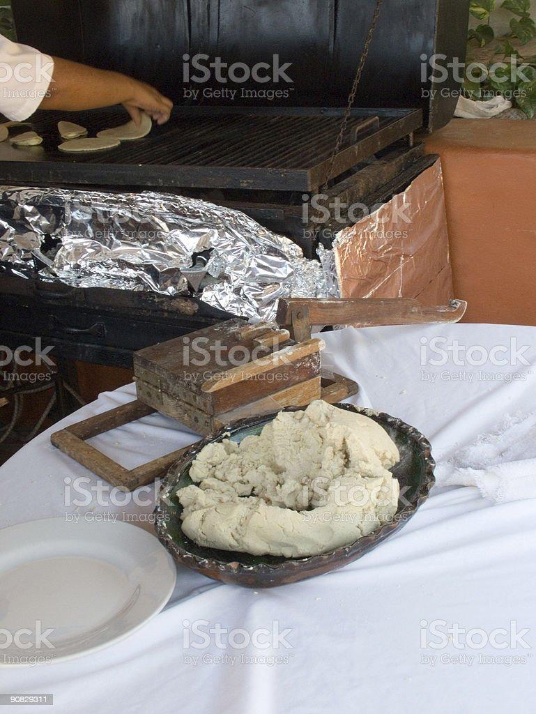 Hand-Made Tortillas royalty-free stock photo