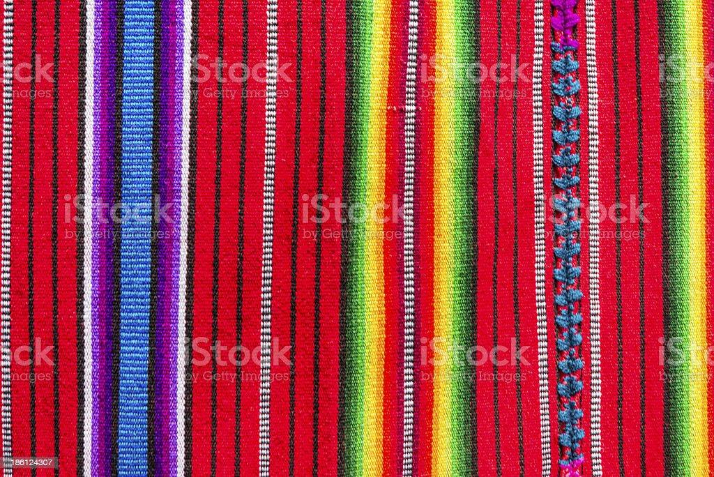 Handmade traditional guatemalan fabric stock photo