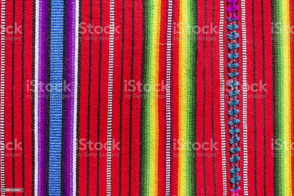 Handmade traditional guatemalan fabric stock photo