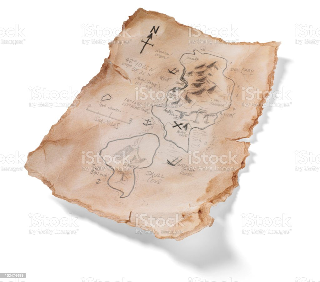 Handmade Treasure Map royalty-free stock photo