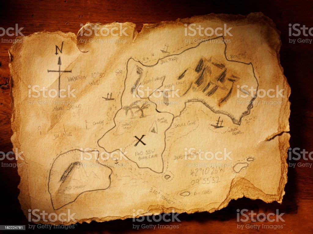 Handmade Treasure Map stock photo