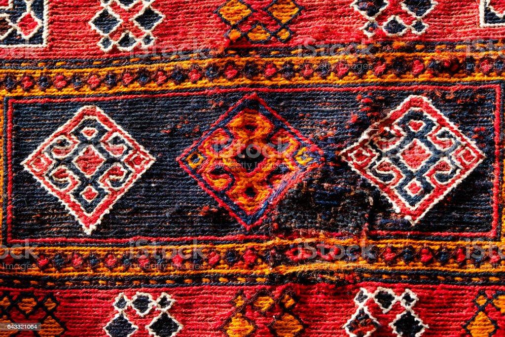 Handmade Turkish Carpet Patterns stock photo