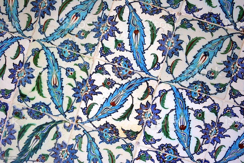 Handmade Turkish tiles royalty-free stock photo