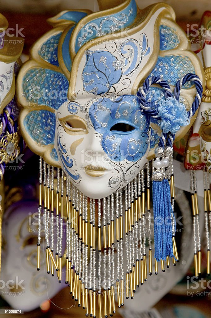 Hand-made Venetian mask (XXL) royalty-free stock photo