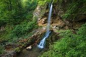 handmade waterfall in Lillafured park