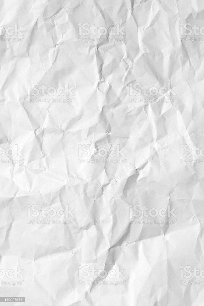Handmade white crumpled paper texture background royalty-free stock photo