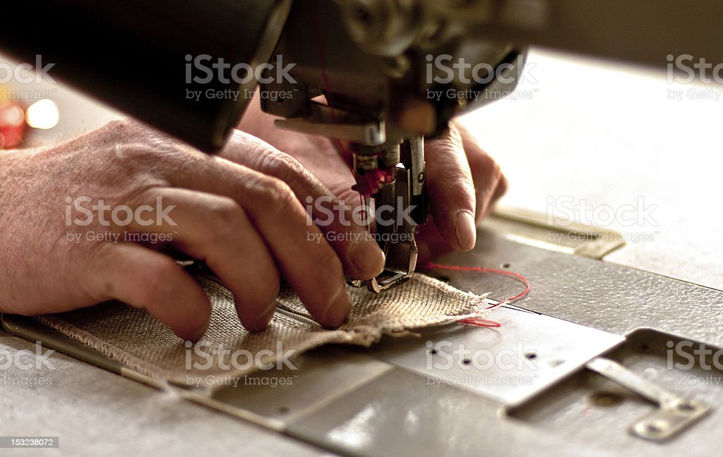 handmade with sewing machine royalty-free stock photo