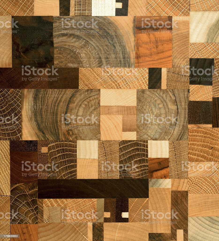 XXXL Handmade Wooden Cutting Board in Quilt Pattern royalty-free stock photo