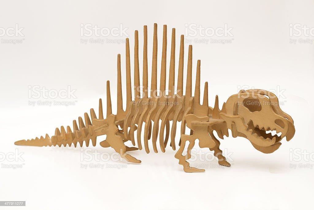 handmade wooden dinosaur royalty-free stock photo